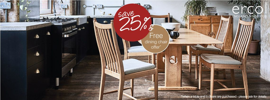 Free Ercol Dining Chair Offer